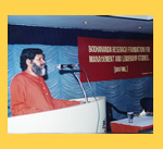 Swami Bodhananda speaking at a BRFML Seminar